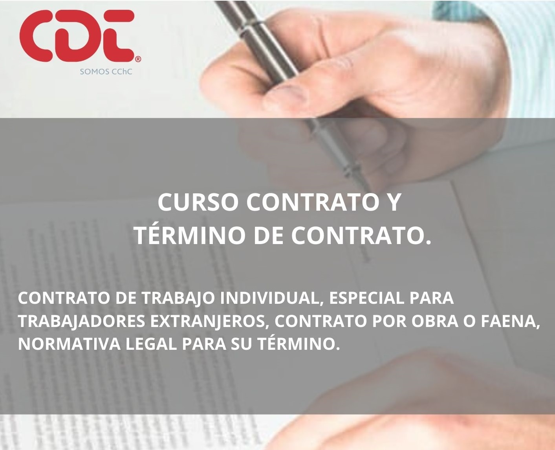 Contrato y término de contrato
